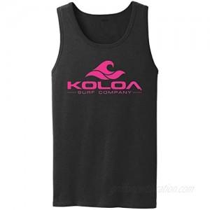 Koloa Classic Wave Logo Tank Top-Black/pink-4XL