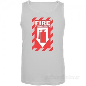 Old Glory Funny Fire Extinguisher White Adult Tank Top