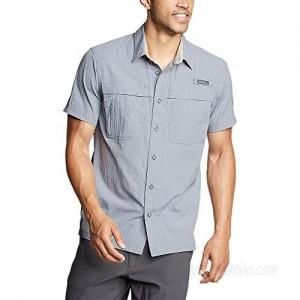 Eddie Bauer Men's Guide Short-Sleeve Shirt Dusted Indigo Regular M