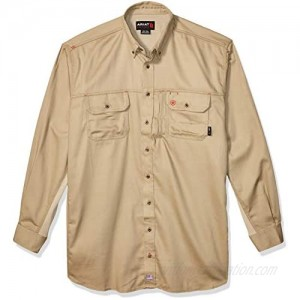 ARIAT Men's Flame Resistant Solid Vent Shirt