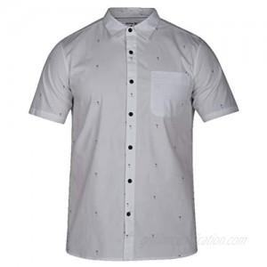 Hurley Men's Palms Woven Top Short Sleeve Button Down Shirt
