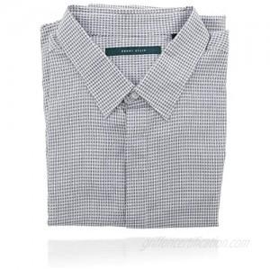 Perry Ellis Men's Collard Button Down Long Sleeve Designer Shirt (XXL) Blue
