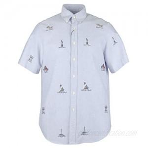Ralph Lauren Mens Americana Short Sleeve Button Down Casual Shirt