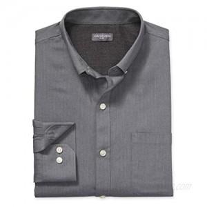 Van Heusen Men's Big and Tall Flex Long Sleeve Button Down Stretch Solid Shirt