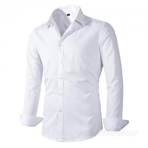 Beninos Men's Dress Shirts Fitted Poplin Solid