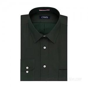 Chaps Men's Regular Fit Wrinkle Free Herringbone Twill Long Sleeve Dress Shirt