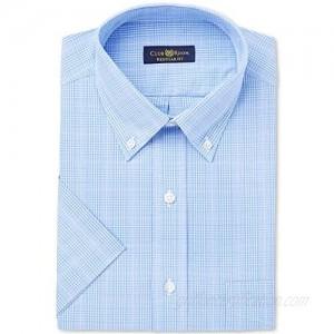 Club Room Mens Glenplaid Button Up Dress Shirt