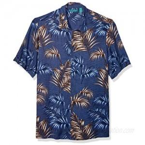 Cubavera Men's Big and Tall Big & Tall Palm Leaf Print Shirt