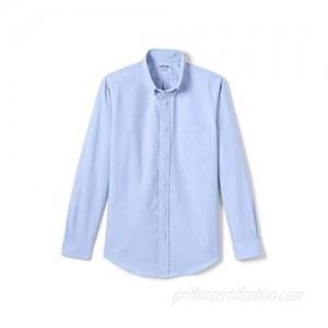Lands' End School Uniform Men's Adaptive Long Sleeve Oxford Dress Shirt