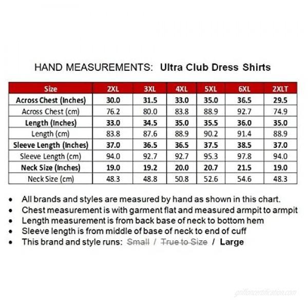 UltraClub Big & Tall Men's Long Sleeve Dress Shirt