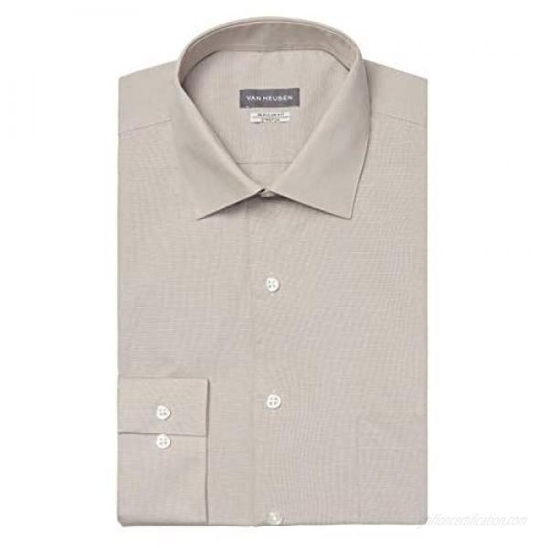 Van Heusen Men's Dress Shirt Regular Fit Solid