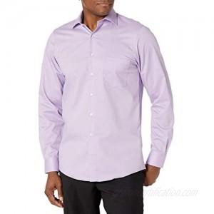 Van Heusen Men's Flex Regular Fit Solid Spread Collar Dress Shirt