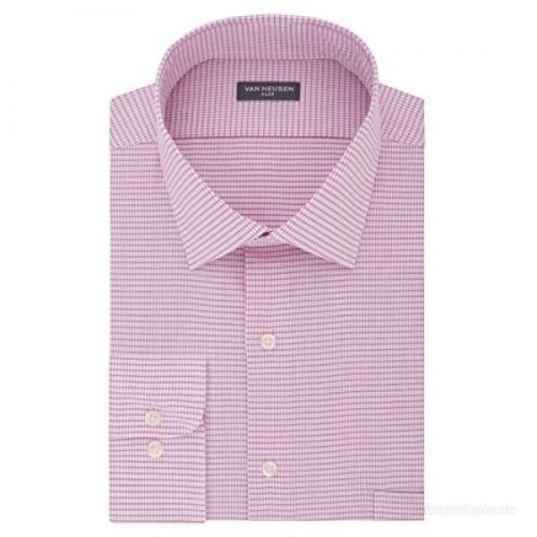 Van Heusen Men's Tall Fit Dress Shirts Flex Collar Stretch Check