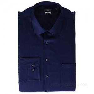 "Van Heusen Tall Mens Dress Shirts Big Fit Flex Solid Spread Collar  Petrol  18"" Neck 32""-33"" Sleeve (XX-Large)"