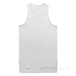 Gergeos Men Casual Tank T-Shirt Irregular Sport Muscle Fitness Workout Tank Top Sleeveless Shirt