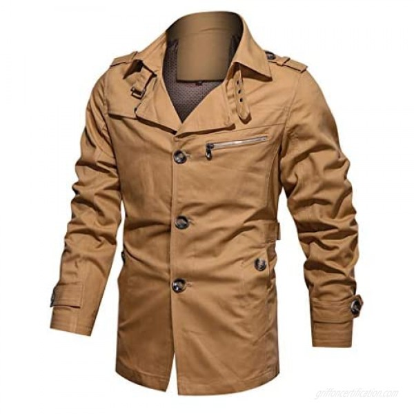 Men's Thicken Fleece Cotton Military Tactical Work Jackets Outwear Pure Color Breathable Plus Size Washing Autumn Winter Coat