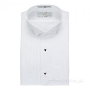 Neil Allyn Mens Tuxedo Shirt Poly/Cotton Wing Collar 1/4 Inch Pleat (15.5 - 38/39)