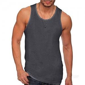 WEUIE Men's Slim Fit Sport Muscle Workout Tank Top Athletic Sleeveless Vest Shirt Undershirt T-Shirt