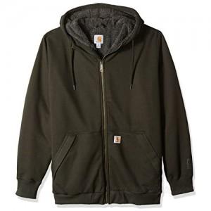 Carhartt Men's Big & Tall RD Rockland Sherpa Lined Hooded Sweatshirt Peat 3X-Large