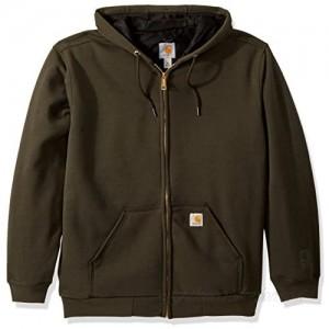 Carhartt Men's Rain Defender Rutland Thermal Lined Hooded Zip Sweatshirt