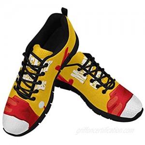 INTERESTPRINT Santa Claus Hand Rock N Roll Gesture Women's Lace Up Running Comfort Sports Sneakers