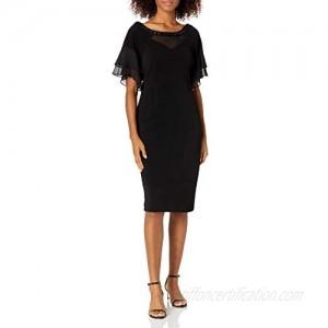 Maya Brooke Women's Beaded Neckline Dress