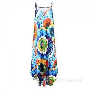 Plus Size Sun Dresses Short Slevee Loose Long Dress Beach Wear with Pockets