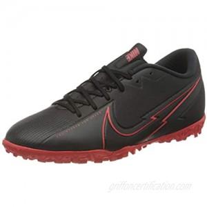 Nike Men's Vapor 13 Academy TF Football Shoe Black Black Dark Smoke Grey Chile Red 11