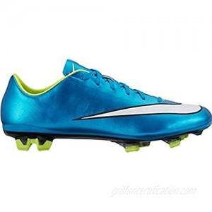 Nike Womens Mercurial Veloce 2 FG Soccer Cleat (Blue Lagoon Volt) Sz.