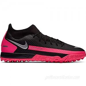 Nike Women's Phantom GT Academy Dynamic Fit TF Soccer Shoe Black Metallic Silver Pink Blast 8