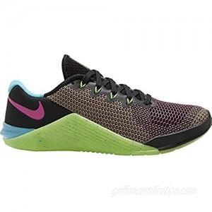 Nike Metcon 5 AMP Women's Training Shoe Black/FIRE Pink-Green Strike-Blue Fury Size