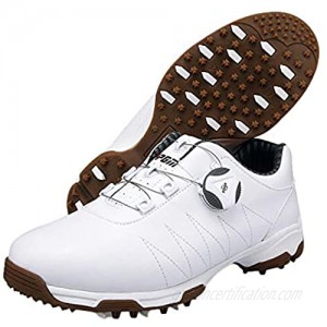 N.Y.L.A. Ladies Golf Shoes Studless Microfiber Waterproof Golf Training Shoes Non-Slip wear-Resistant Golf Sports Shoes Rotating Shoelaces/Quick Put on and take Off