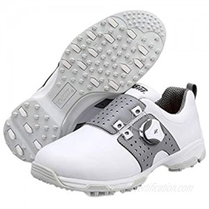 N.Y.L.A. Ladies Professional Golf Shoes Lightweight and Breathable Golf Hiking Shoes Outdoor Protective Leather Stud Sneakers Swivel Buckle/Quick Put on and take Off