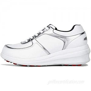 RTY XZ144 Women's Golf Shoes Height Increase Insoles Girl's Waterproof Casual Shoes White 36