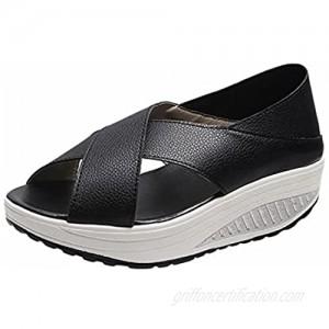 Women Summer Cross Strapping Fish Mouth Platform Platform Sandals Platform Shoes