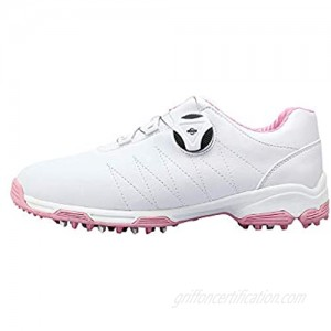 Women's Golf Shoes  Waterproof Lightweight Breathable Golf Shoes Spiked Shoes  Non-Slip Comfortable and Wearable Golf Hiking Training Shoes