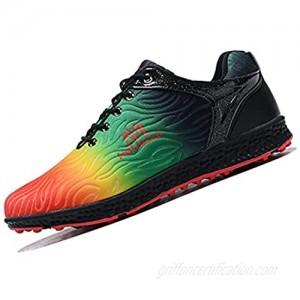 XSJK Women's Golf Shoes terproof Breathable Golf Trainers  Colourful Non-Slip Running Training Shoe  Outdoor Hiking Shoes Green 36