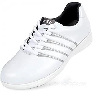 XSJK Women's Water-Resistant Golf Shoe Non-Slip Golf Shoes Breathable Golf Shoes Running Shoes Sports Shoes White 36