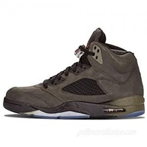 Jordan Air 5 Retro Fear Men's Basketball Shoes Sequoia/Fire Red-Medium Olive-Black 626971-350