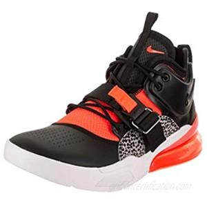 Nike Air Force 270 Mens Hi Top Trainers AH6772 Sneakers Shoes (UK 7.5 US 8.5 EU 42  Black Hyper Crimson Wolf Grey 004)