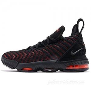 Nike Kid's Lebron XVI (GS) Basketball Shoes (Black/Black-University RED  Numeric_4)
