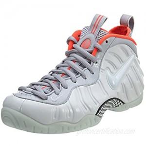 Nike Men's Air Foamposite Pro Prm Pr Pltnm/Pr Pltnm/Wlf Gry/Brgh Basketball Shoe 8 Men US