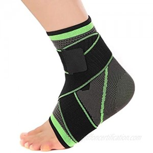 Nuoda Ankle Brace Compression Support Sleeve for Injury Recovery Joint Pain and More. Plantar Fasciitis Foot Socks with Arch Support Eases Swelling Heel Spurs Achilles Tendon-2 Pack