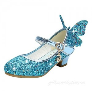 Princess Shoes for Girls Infant Kids Baby Crystal Bling Butterfly Single Princess Shoes Sandals