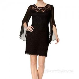 Connected Apparel Womens Lace Mini Sheath Dress