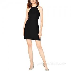 INC Womens Halter Sleeveless Shift Dress Black M