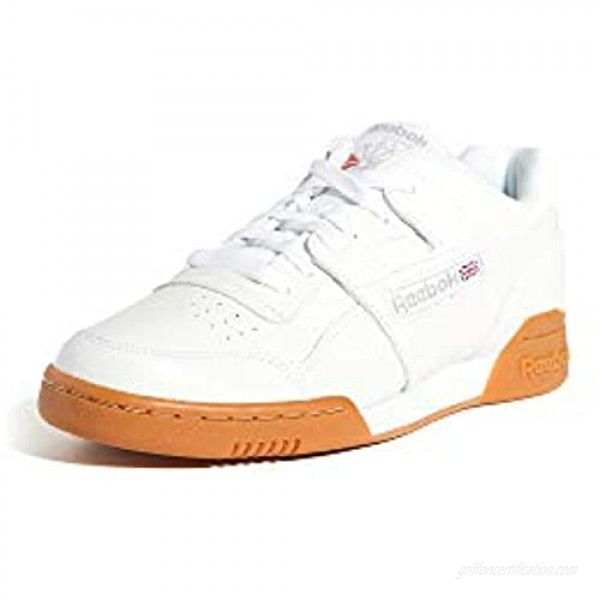 Reebok Men's Workout Plus Cross Trainer White/Carbon/Classic red 7 M US