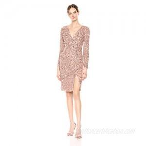 Adrianna Papell Women's Beaded Wrap Dress