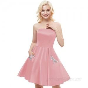 Aurora Bridal Women's Short Beading Dresses Formal Gown