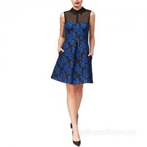 Betsey Johnson Women's Sleevless Jacquard Dress